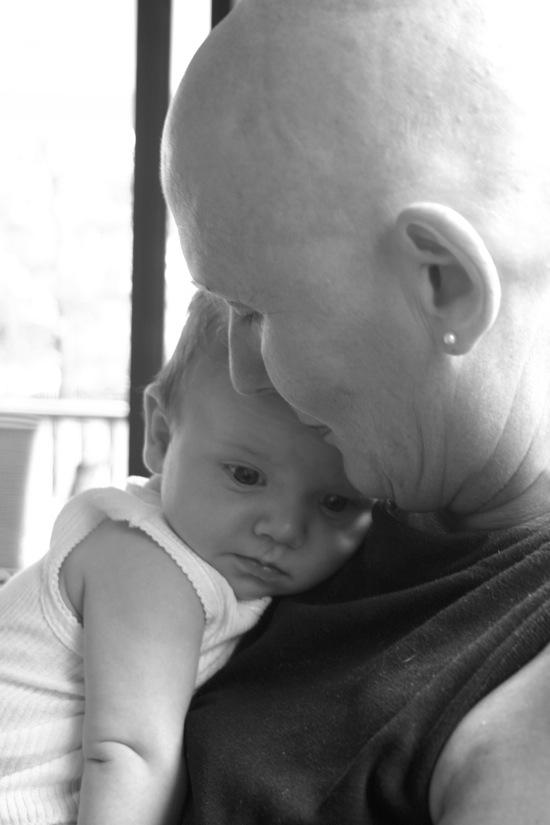 Nana Fay with Flynn aged 12 weeks