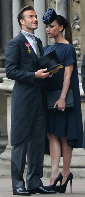 The Beckhams step out for the Royal wedding ... now if only we could buy Victoria's best accessory - David - online
