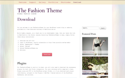 This is a free WordPress theme created by Westfield for fashion bloggers