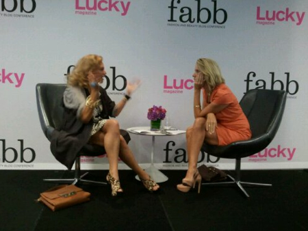 Diane Von Furstenberg, left, at Lucky Magazine's Fashion and Beauty Blog Conference, New York.  Photo: thefatapplenyc.com