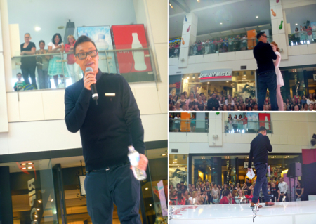 Gok Wan works his magic on the crowd at Westfield Chermside