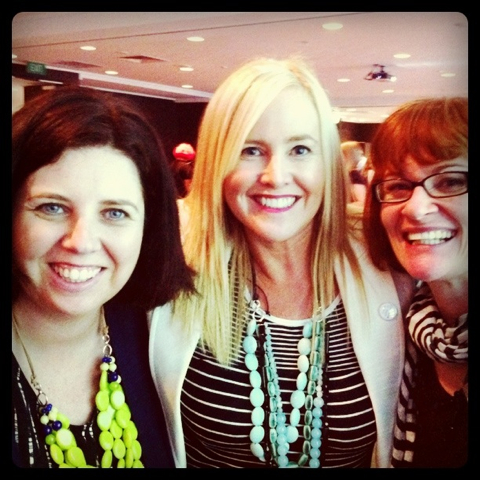 Conference day: with Madam Bipolar and Eden all wearing Uberkate necklaces