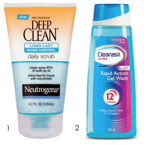 Neutrogena Deep Clean, Clearasil Rapid Action Gel Wash