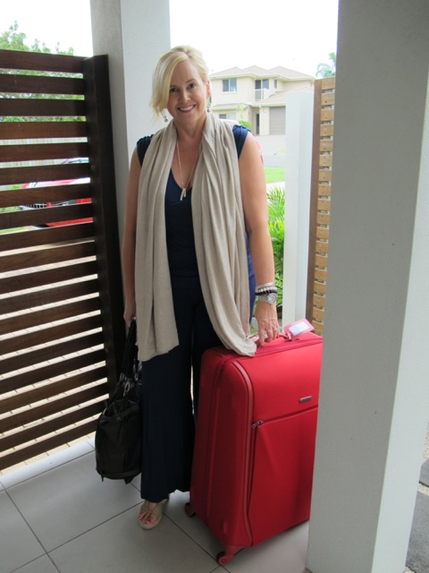 Out the gate and ready to go. See that Gasparre cashmere/modal wrap? I've never felt more glam on the plane. And as for the Samsonite suitcase ... spotted it from 20 metres away at baggage claim