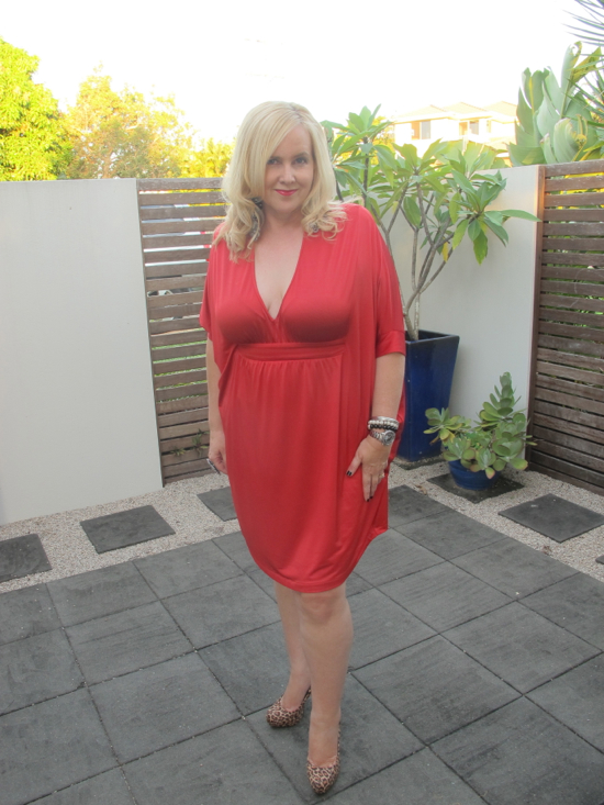 Leona Edmiston Pia dress in Cherry