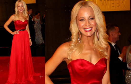 Carrie Bickmore Logies 2012. Photo: TV Week/ninemsn