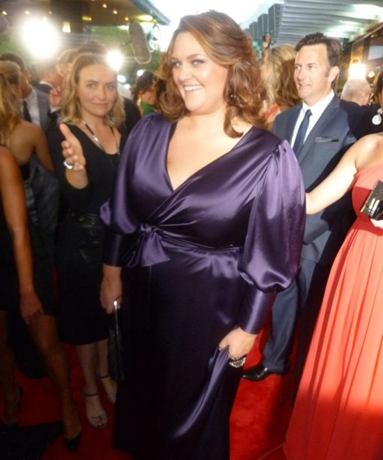 Chrissie Swan 2012 Logies. Photo: Suzanne Carbone