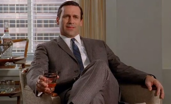 Don Draper drinking Mad Men