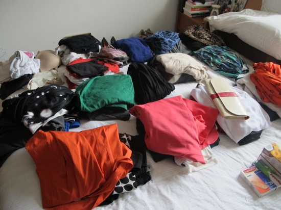 "... and to pack for a ""fashion"" week away. A girl needs a lot of options!"
