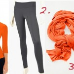 abi and joseph orange exercise wear