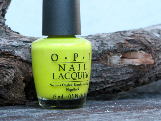 OPI Did It On EM chartreuse nail colour