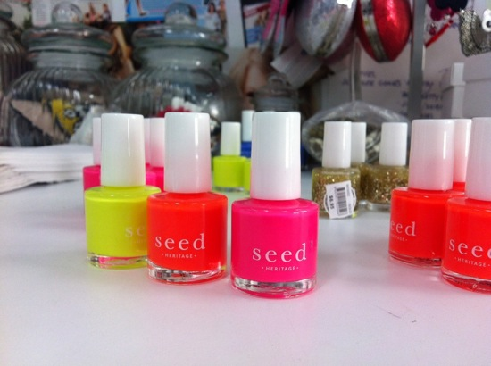 Seed fluoro nail polish on sale for $4.95