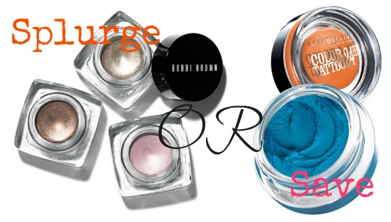 Splurge on Bobbi Brown Long-Wear Cream Shadow or save with Maybelline New York EyeStudio Color Tattoo Eye Shadow