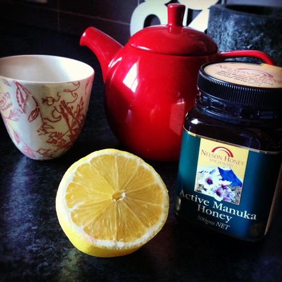 Lemon, Manuka honey and ginger tea