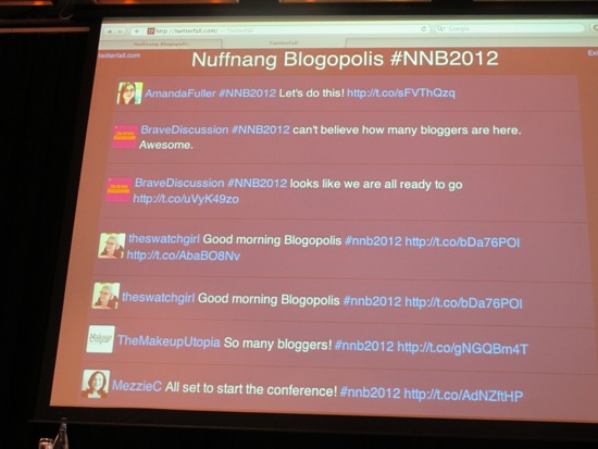 Got to love an event where the Twitter stream is as entertaining as the speakers on stage