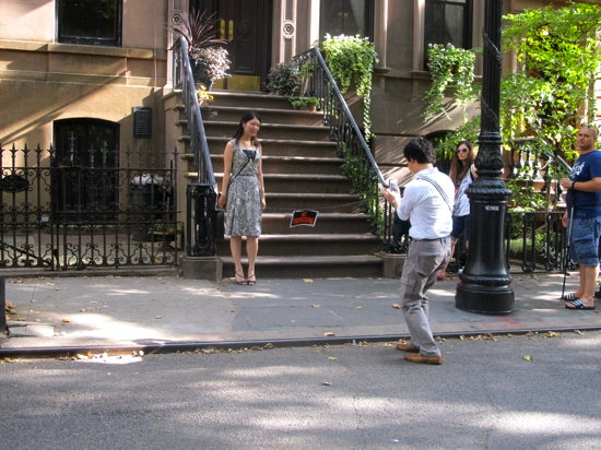 Perry Street: the very steps that lead to Carrie Bradshaw's Sex and the City apartment. They're now off limits but that doesn't stop the photos