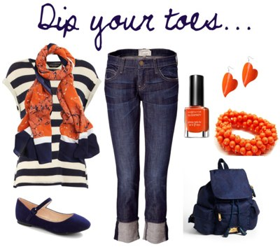 Dip your toes into wearing orange