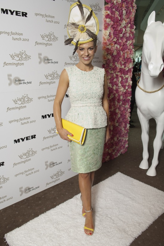 Myer Fashions on the Field Ambassador Alison Saville. Photo: SDPMEDIA 