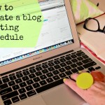 How to create a blog posting schedule