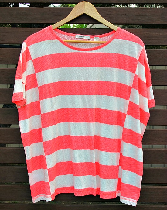 Country Road block stripe t-shirt $59.95