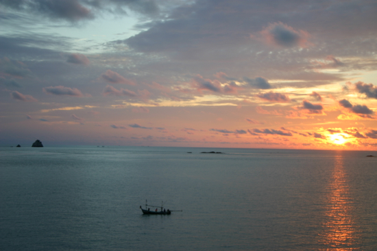 Sun rising over the Gulf of Thailand, Koh Samui