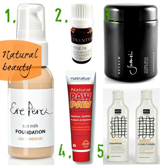 5 fave natural beauty products