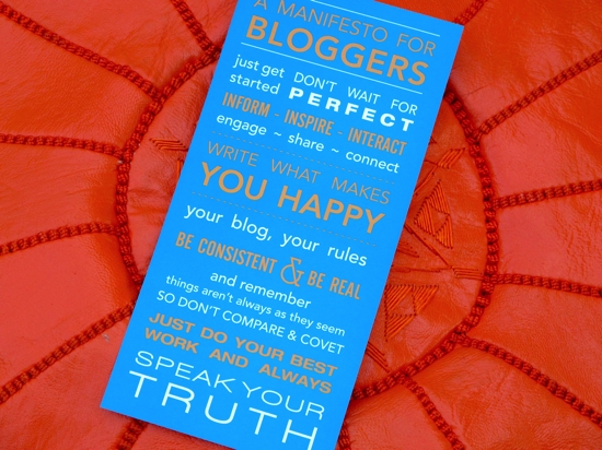 A Manifesto for Bloggers | Kelly Exeter | OzBlog Hosting