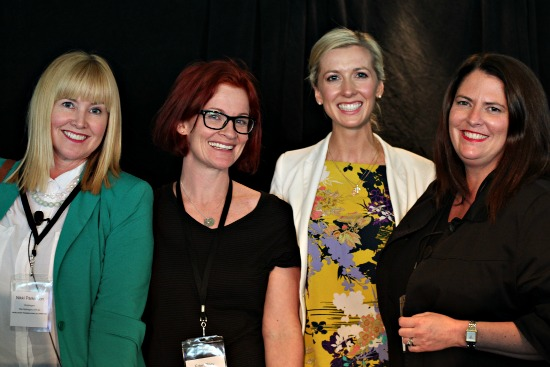 #pbevent Nikki Parkinson, Styling You; Eden Riley, Edenland; Lorraine Murphy, The Remarkables; Mrs Woog, Woogsworld