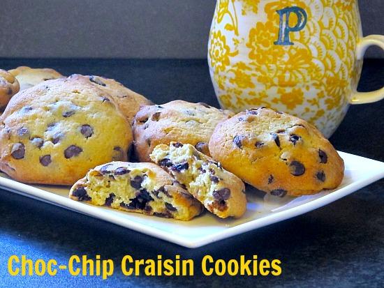 choc-chip craisin cookies