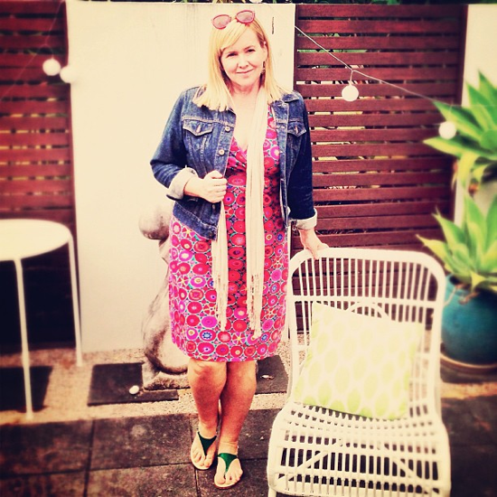 Boomshankar dress | Jag jacket | Witchery scarf | Peachy sandals