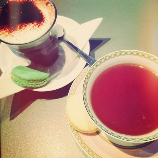 And to have tea, hot chocolate and macarons with Miss 15 ...