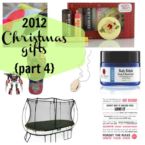 2012 Christmas gift guide
