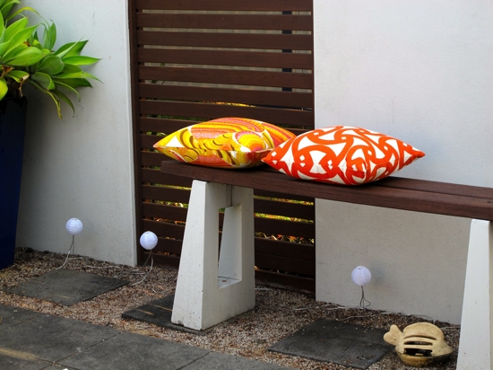 Courtyard makeover | cushions | Peonie Home
