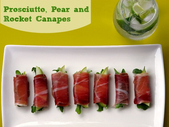 Recipe: Prosciutto Pear Rocket Canapes