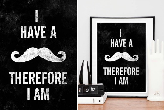 I have a Mo Therefore I am | Restyle Retro Design Prints