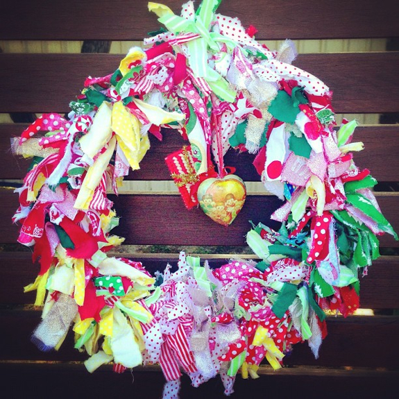 Christmas 2012 | Christmas fabric wreath