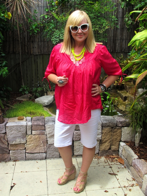 Keeping it Real:  summer Christmas 2012 outfit | Mr Rose | Red Phoenix Emporium necklace