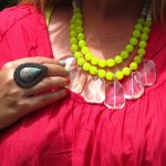 Samantha Wills ring | Red Phoenix Emporium necklace | neon