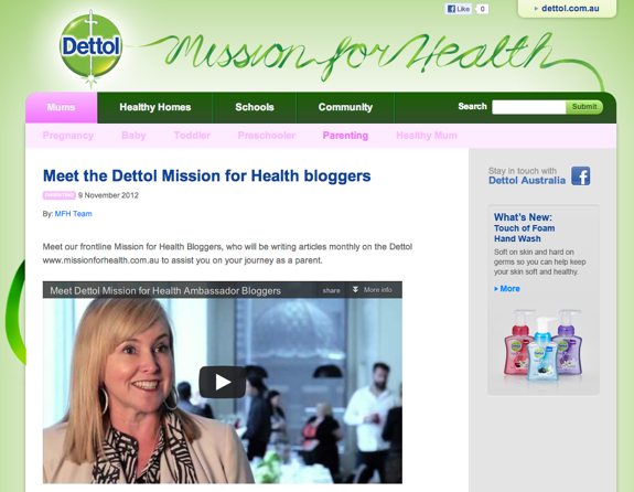 Dettol Mission for Health