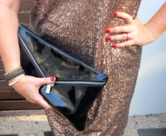 Leona Edmiston Meredith dress | sequins | copper