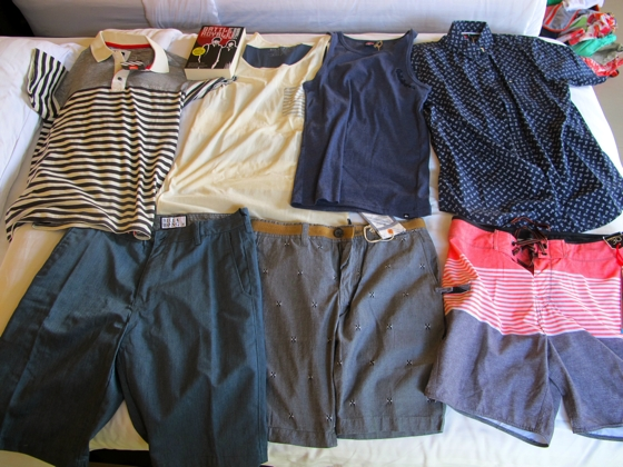 Teenage son's Bali clothes haul