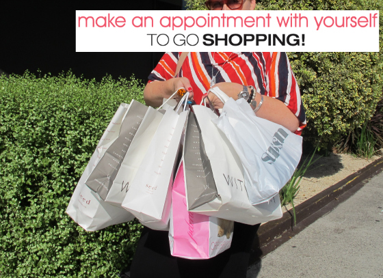 Unlock Your Style in 14 Days | Make an apppointment with yourself to go shopping | www.stylingyou.com.au