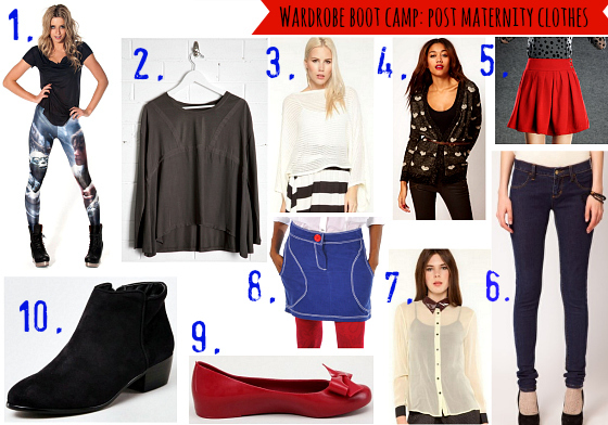 Wardrobe boot camp: post maternity clothes