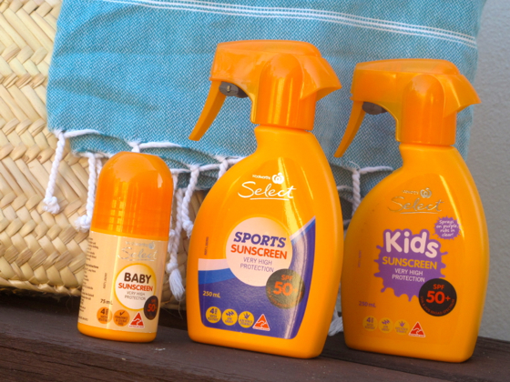 Woolworths Select SPF 50+ sunscreen | sun care