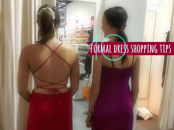 10 formal dress shopping tips