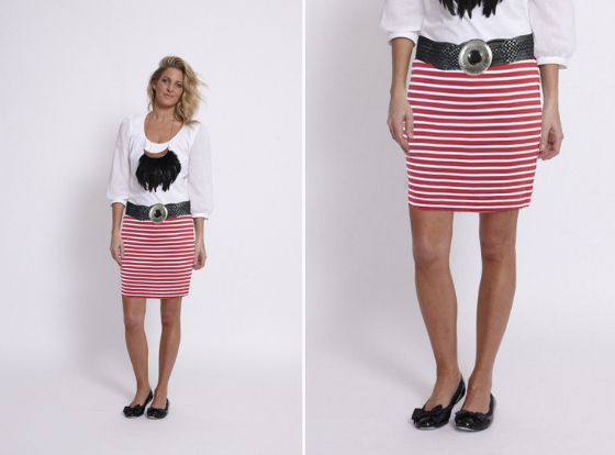 ollie & max striped skirt