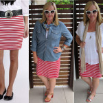 red striped skirt 3 ways
