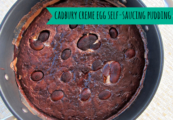 Cadbury Creme Egg self-saucing pudding