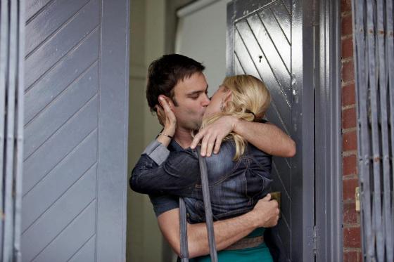 Nina Proudman and Dr Patrick kissing