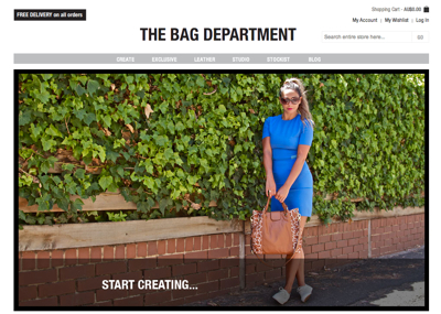 The bag department